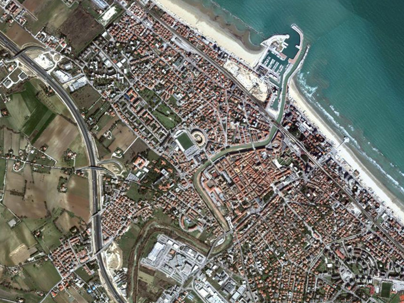 Senigallia vista dal satellite