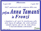 Messa in suffragio di Anna Tamanti in Fronzi